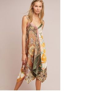 NWT Anthropologie Sebou Scarf-Printed Dress